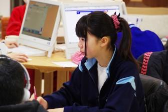 附属中学校2年 泉希さん