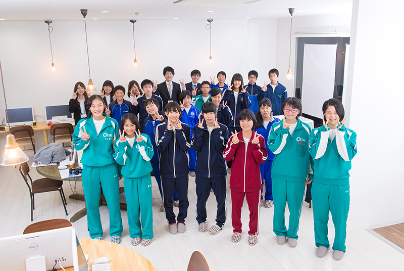 Teams小千谷校第1期生の中学生たち