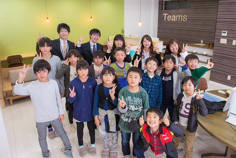 Teams小千谷校第1期生の小学生たち